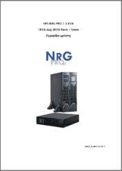 User manual NRG PRO 1 3 RT