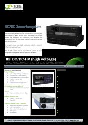 Datasheet IBF DC DC HV